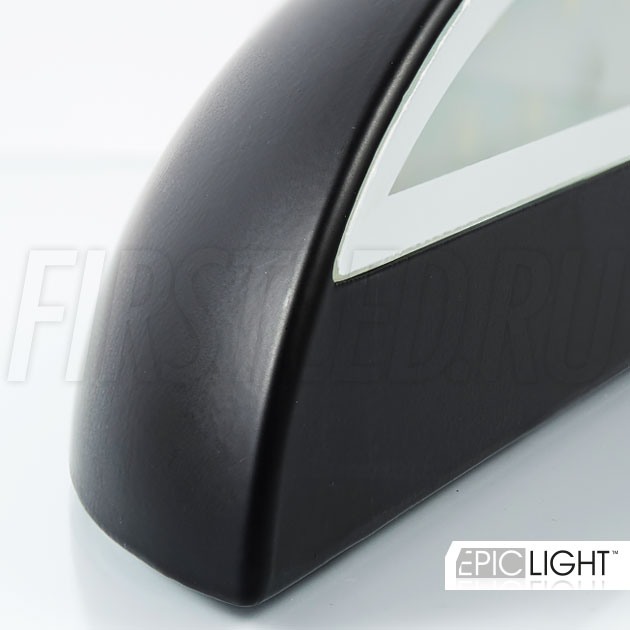 Плавность линий и черный корпус — светодиодный светильник EDGE OVALO