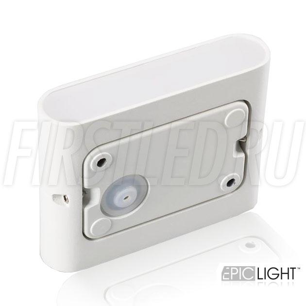 Степень защиты IP54 позволяет размещать светильник FLATON 6W в помещения где присутствует влажность. Источник питания встроен в корпус светильника, подключение на 220V