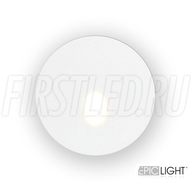 Круглый встраиваемый в стену светодиодный светильник GAP R 3W