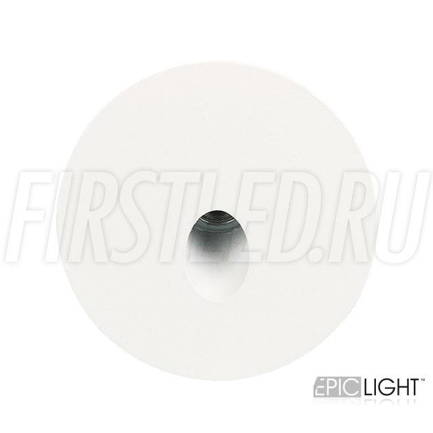 Встраиваемый в стену светодиодный светильник GAP R 3W круглой формы для подсветки лестниц