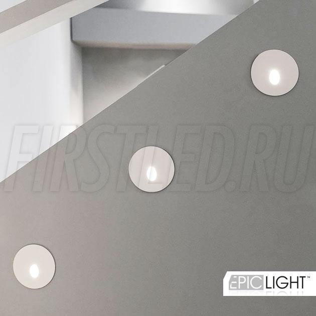 Встраиваемый в стену светодиодный светильник GAP R 3W для подсветки лестниц (аналог STEPLIGHT SLOT IP65)