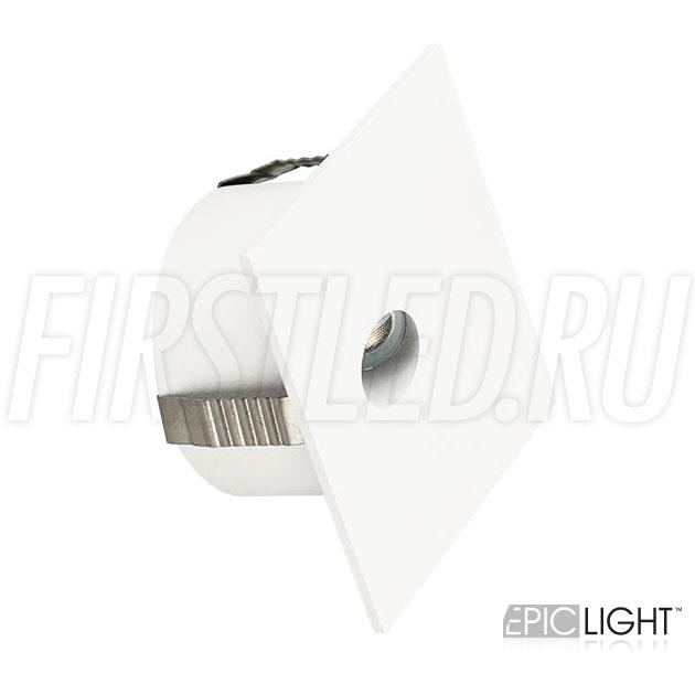 Квадратный встраиваемый в стену светодиодный светильник GAP S 3W для подсветки лестниц