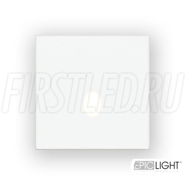 Квадратный встраиваемый в стену светодиодный светильник GAP S 3W