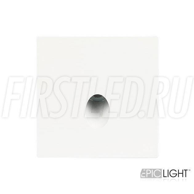 Встраиваемый в стену светодиодный светильник GAP S 3W квадратной формы для подсветки лестниц