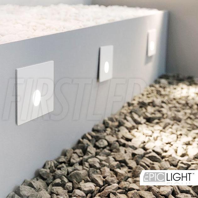 Встраиваемый в стену светодиодный светильник GAP S 3W для подсветки лестниц (аналог STEP LIGHT EGG S)