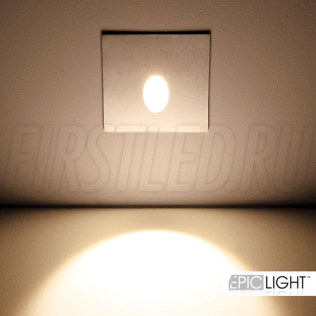 Квадратный встраиваемый в стену светодиодный светильник GAP S 3W со степенью защиты IP65