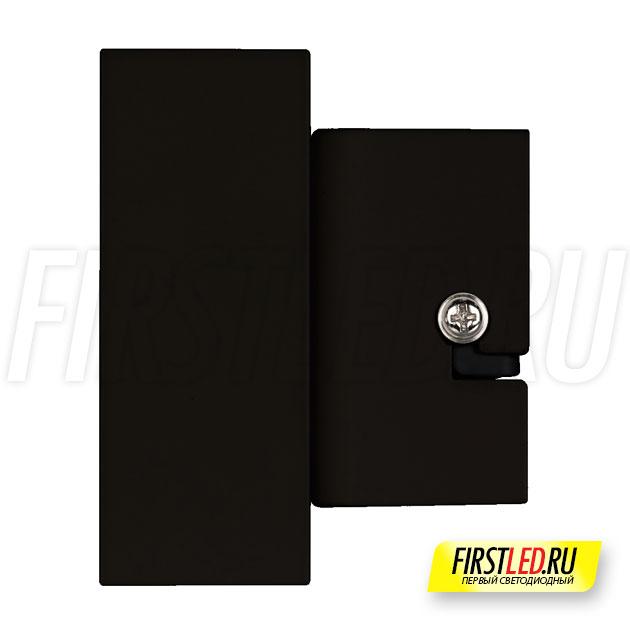Настенный светодиодный светильник LEGACY W 2x6W в черном корпусе, вид сбоку