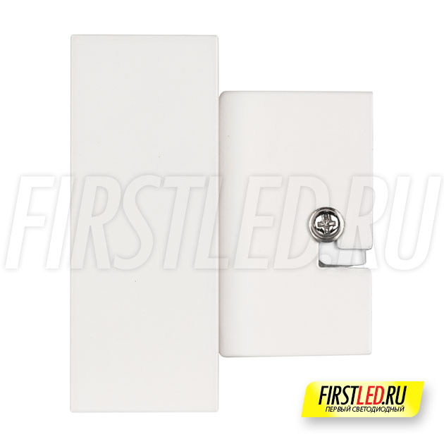 Настенный светодиодный светильник LEGACY W 2x6W в белом корпусе, вид сбоку