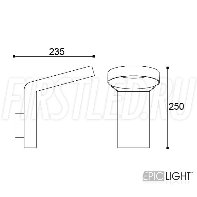 Чертеж (схема) светодиодного светильника NIMBUS