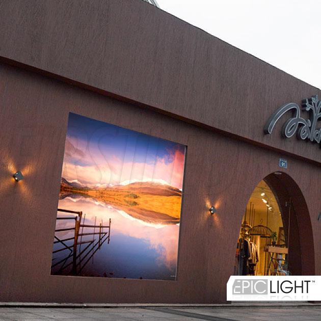 Настенный светодиодный светильник QUADRO RAY подсветка фасада здания