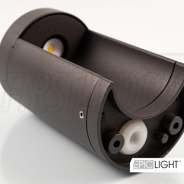 Настенный светодиодный светильник ROUNDER легко крепится к стене