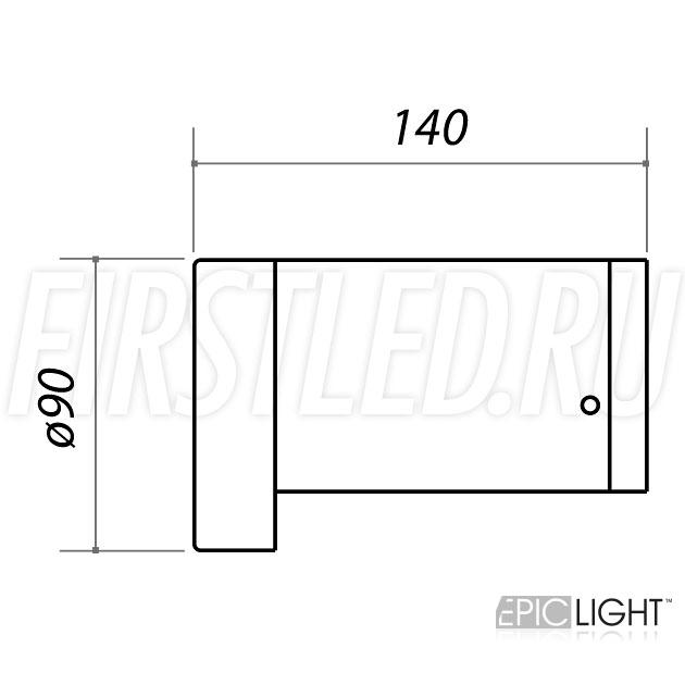 Чертеж (схема) светодиодного светильника ROUNDER