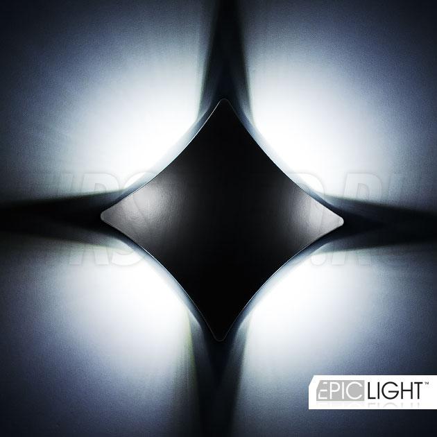 4 стороны, четыре ярких луча — светодиодный светильник WALL 4RAY