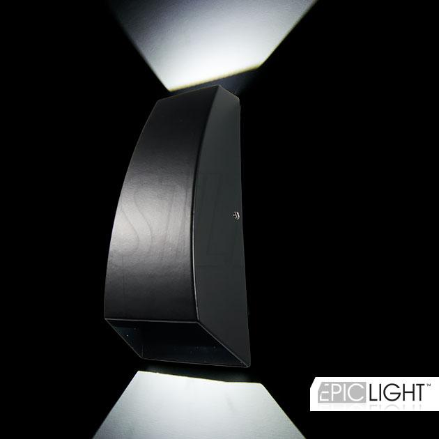 Светильник на светодиодах WALL DOUBLERAY идеально подойдет под любой фасад из дерева, кирпича или камня