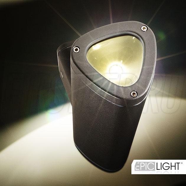 Два светодиода CREE светят в два направления светильника WALL DUO