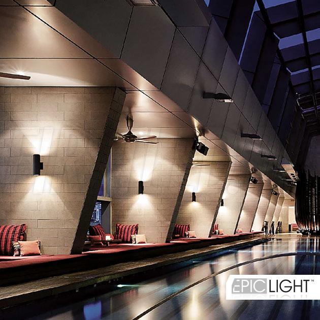 Установка светильника WALL DUO в отелях