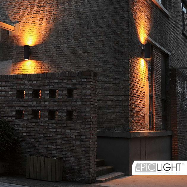 Креативное освещение зданий с помощью светодиодного светильника WALL DUO