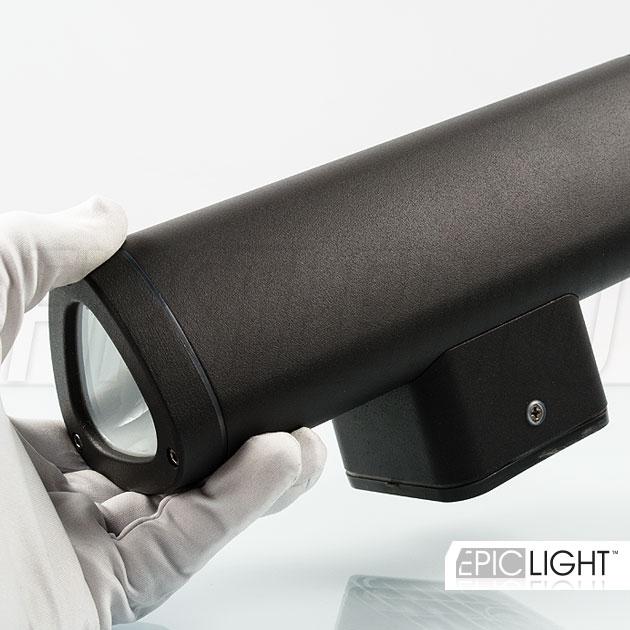 Светодиодный светильник WALL DUO окрашенный в темно-серый цвет