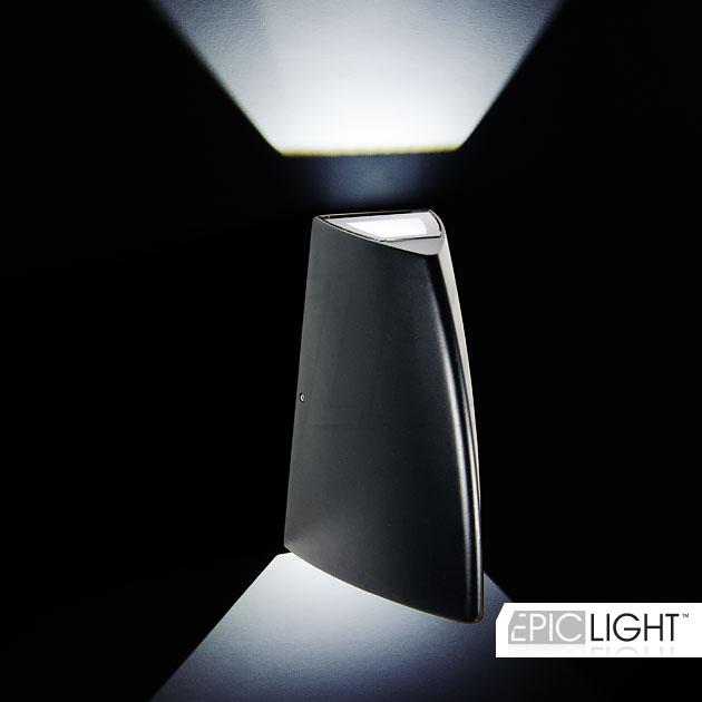 Черный корпус светильника WALL SHIPO выполнен из алюминия