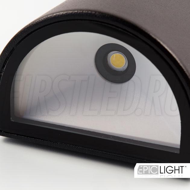 Современные светодиоды американского производства BRIDGELUX установленные в светильнике WALL TWIN потребляют всего 10 Ватт