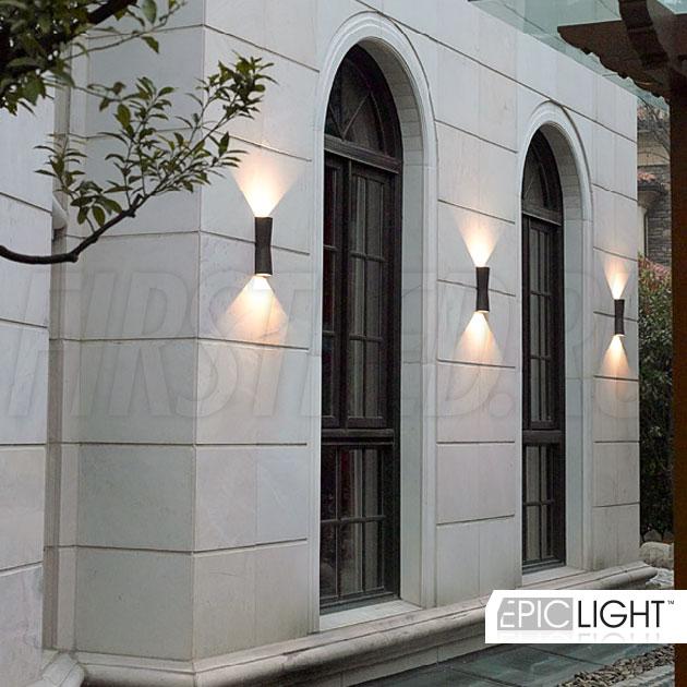 Влагозащита светильника WALL TWIN — IP54, что применимо при подсветке фасадов зданий в любую погоду!