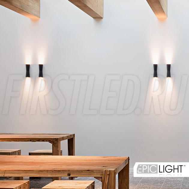 Настенный светодиодный светильник WALL TWIN в подсветке интерьера