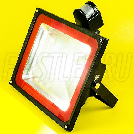 Светодиодный прожектор с датчиком движения FLOOD PIR 50W