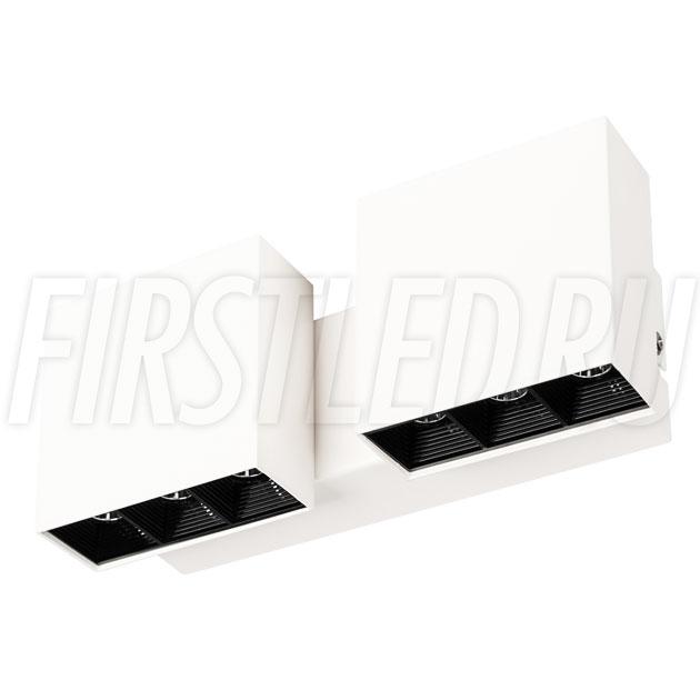Настенный светодиодный светильник LEGACY W 2x6W в белом корпусе