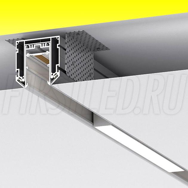 Профиль-держатель магнитых треков для натяжного потолка MAG STRETCH 45 (CANAL INF STC5857)
