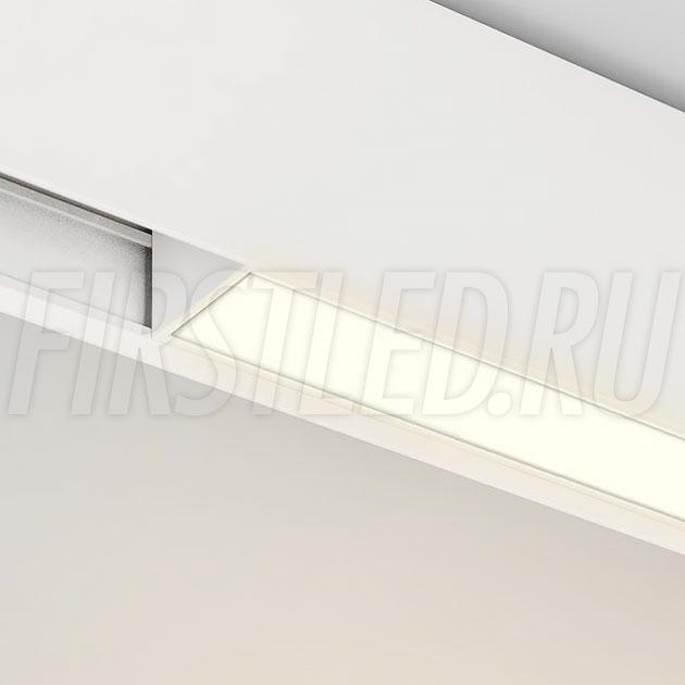 Магнитный трековый светильник MAGNETIC LINE W (INF LINE WH / FLAT)
