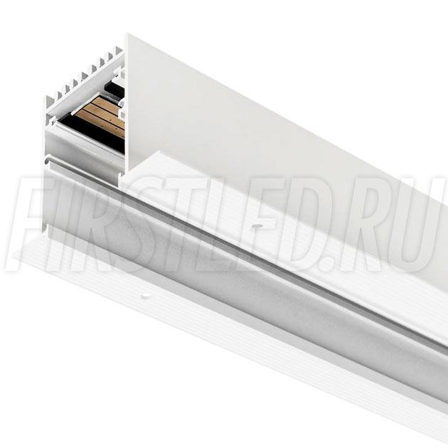 Встраиваемый безрамочный магнитный трек MAGNETIC TRACK F (белый) (аналог TRACK INF TM)