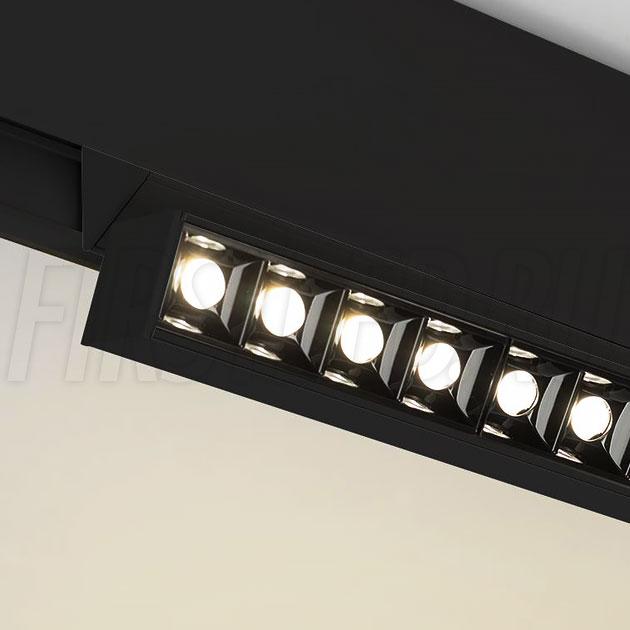 Магнитный трековый светильник MAGNETIC TURN DOT B (аналог INF TURN SPOT LINE BK / LASER-FOLD)