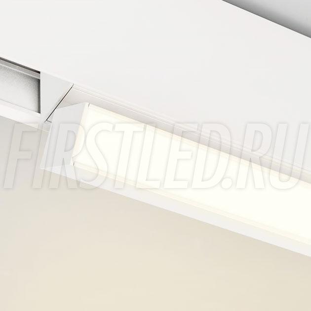 Магнитный трековый светильник MAGNETIC TURN LINE W (аналог INF TURN LINE WH или FLAT-FOLD)