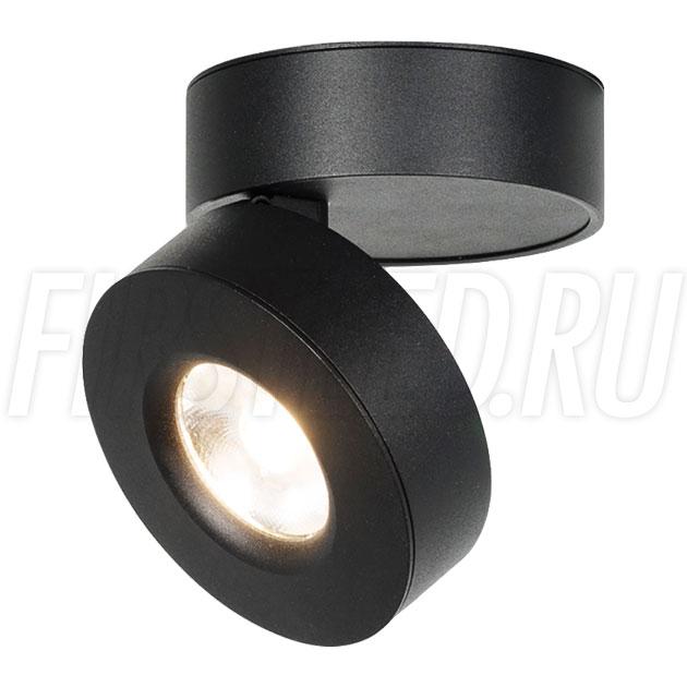 Накладной светодиодный светильник MONA R Black 12W (ROTER C B)