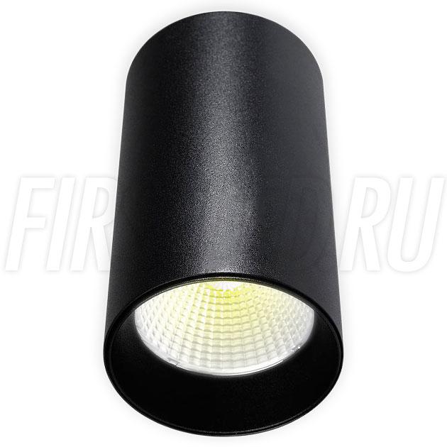 Накладной светодиодный светильник POLONIUM Black 15W (черная вставка)