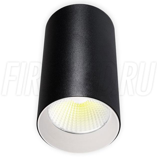 Накладной светодиодный светильник POLONIUM Black 15W (белая вставка)