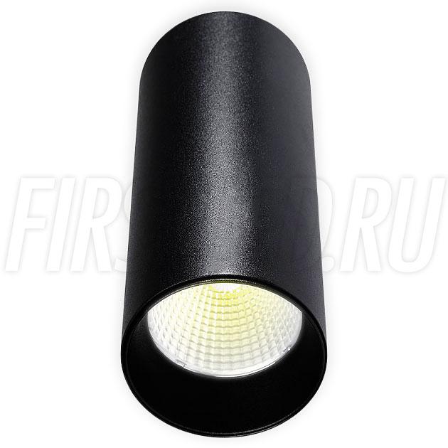 Накладной светодиодный светильник POLONIUM Black 8W (черная вставка)