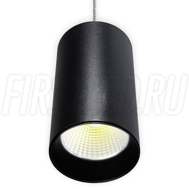 Подвесной светодиодный светильник POLONIUM S Black 15W (черная вставка)