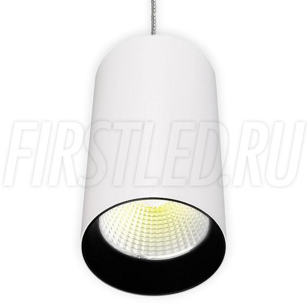 Подвесной светодиодный светильник POLONIUM S White 15W (черная вставка)