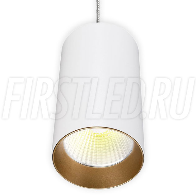 Подвесной светодиодный светильник POLONIUM S White 15W (золотая вставка)