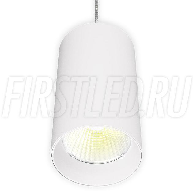 Подвесной светодиодный светильник POLONIUM S White 15W (белая вставка)