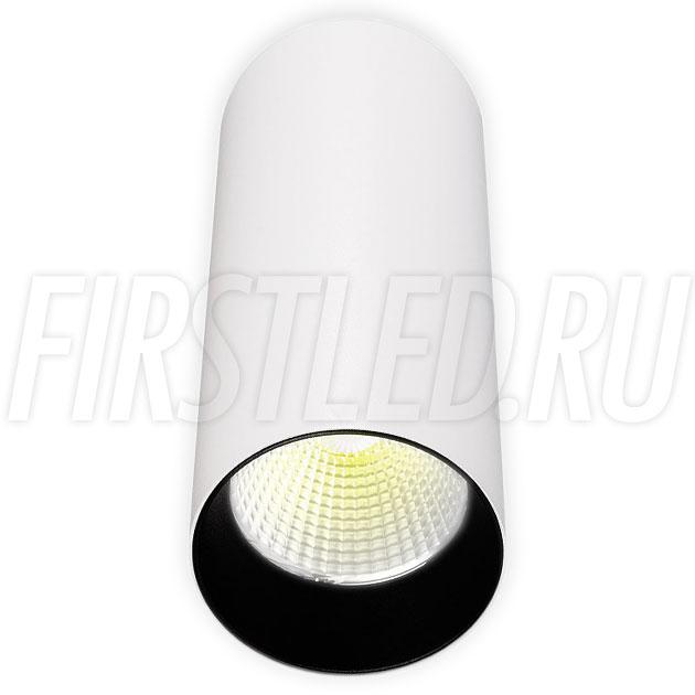 Накладной светодиодный светильник POLONIUM White 8W (черная вставка)
