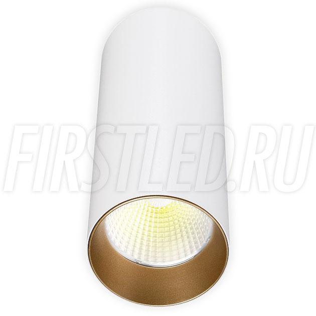 Накладной светодиодный светильник POLONIUM White 8W (золотая вставка)