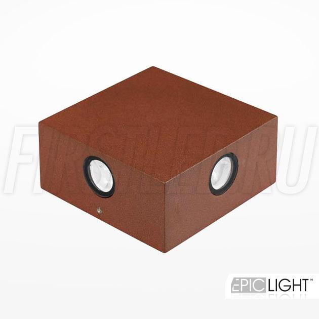 Настенный светодиодный светильник QUADRO RAY (коричневый)