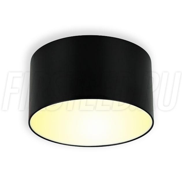 Накладной светодиодный светильник RONDOID DRUM 12W (черный корпус)