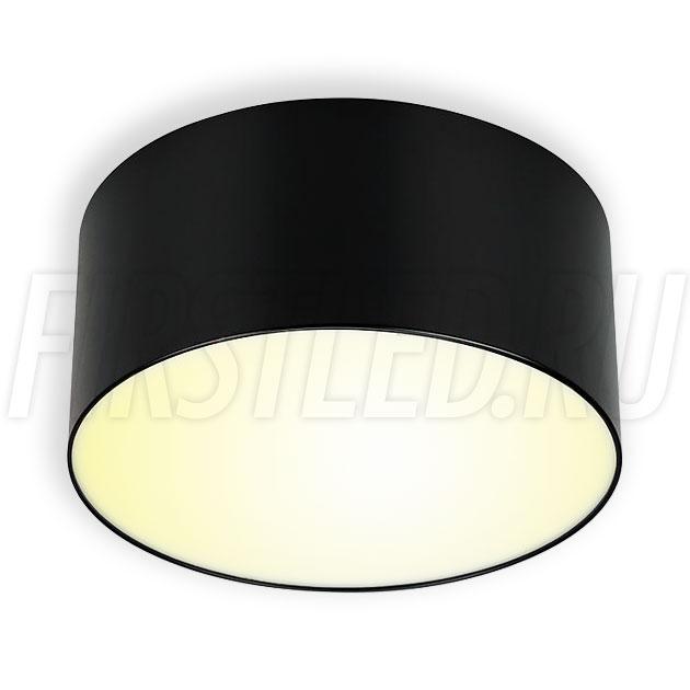 Накладной светодиодный светильник RONDOID DRUM 18W (черный корпус)
