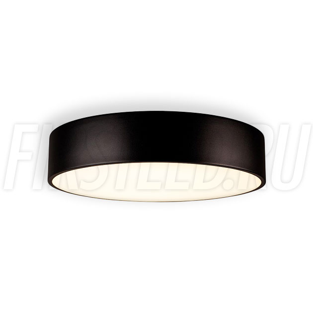 Потолочный накладной светодиодный светильник ROUND S 25W (черный корпус)
