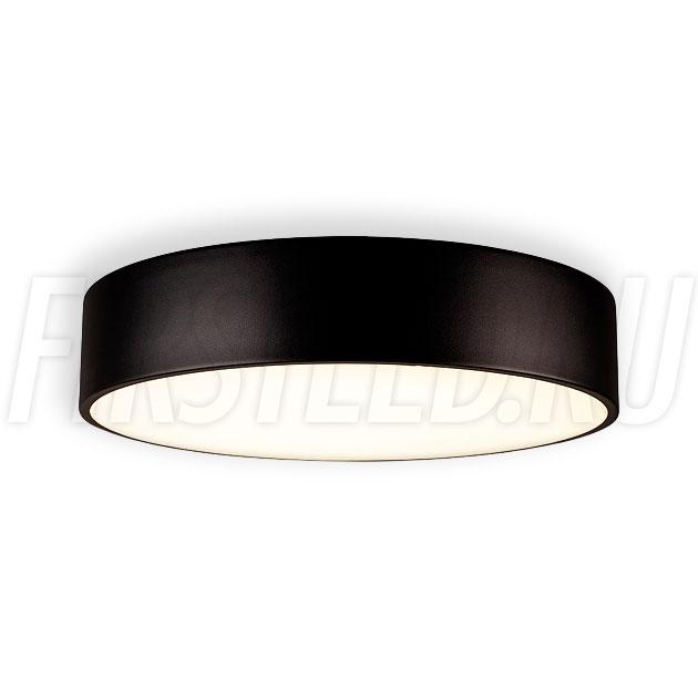 Потолочный накладной светодиодный светильник ROUND S 35W (черный корпус)