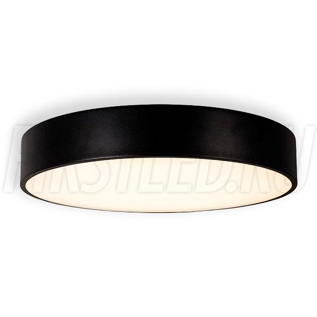 Потолочный накладной светодиодный светильник ROUND S 50W (черный корпус)