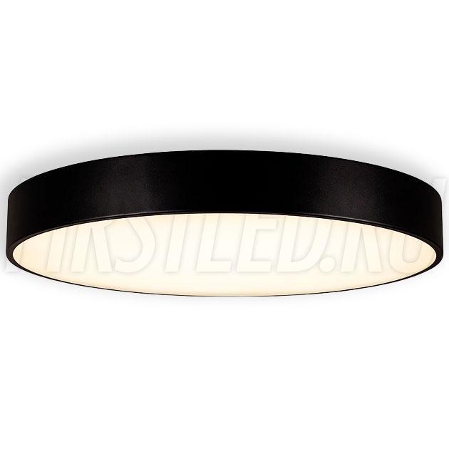 Потолочный накладной светодиодный светильник ROUND S 90W (черный корпус)